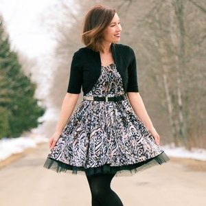 Dresses & Skirts - Animal print tulle dress with belt